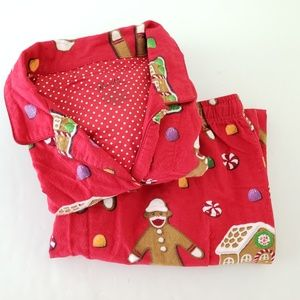 Nick & Nora Intimates & Sleepwear - Nick & Nora Gingerbread Sock Monkey Pajama Set